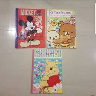 In stock Assorted Notebook Mickey Mouse Winnie The Pooh Rilakkuma