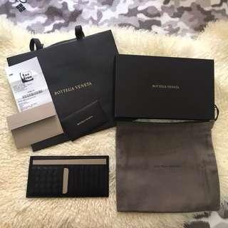 BV 黑色長咭片套,100%新,有盒/紙袋/德國退稅單