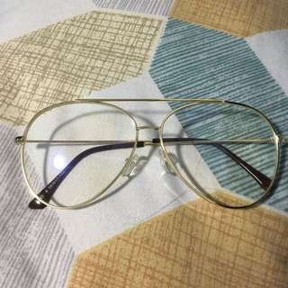 Gold Aviator Specs (Replaceable Lens)