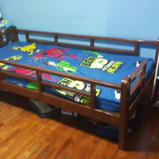 Single Bed With Bed Rails