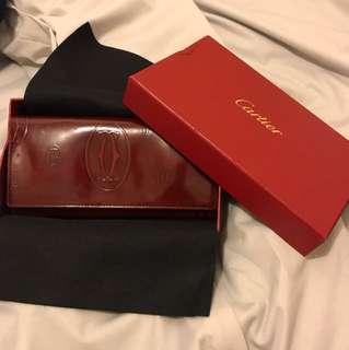 全新Cartier 紅色長型銀包