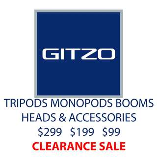 Gitzo Tripods Monopods Booms Heads Accessories Clearance SALE