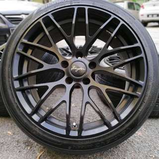 Breyton 18 inch sports rim kia optima tyre 70%. Black make you on track!!!