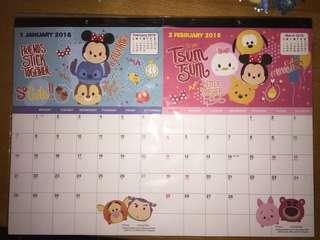 Disney Tsum Tsum月曆
