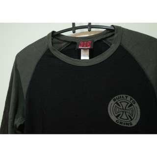 美國元老級滑板品牌 Independent  logo 黑色七分袖 S號