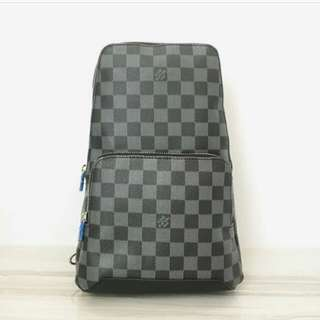 LOUIS VUITTON AVENUE SLING BAG DAMIER GRAPHITE