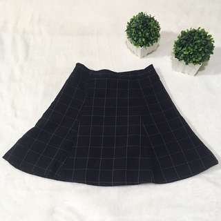 Korean Grid Skirt
