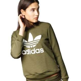 BNWT Adidas Women Originals Trefoil Crew Sweatshirt