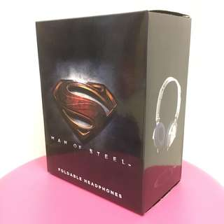 BNIB Man of steel foldable headphones