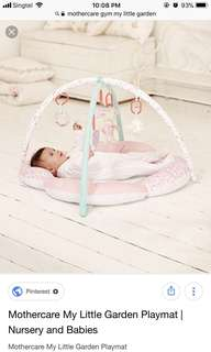Mothercare my little garden playmat gym infant baby toddler