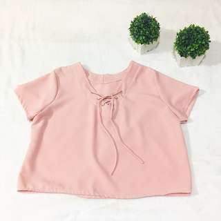 Pastel Pink Tie-Up