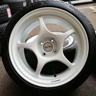 Enkei rpo1 sports rim alza tyre 70% . Really2 nice worrrrr