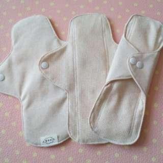 24cm Organic reusable cotton sanitary pad