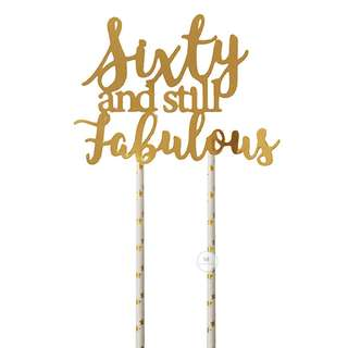 Customized Cake topper Gold Mirror Birthday Party