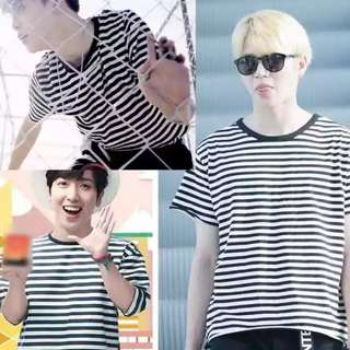 BTS JIMIN STRIPED SHIRT