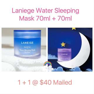 🛍1+1 Sales! Laneige Water Sleeping Mask 70ml + 70ml
