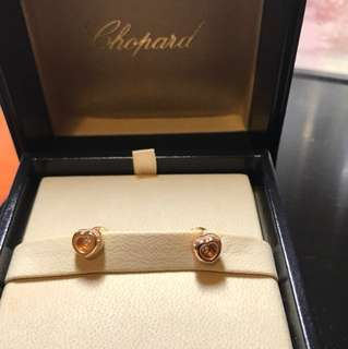 Chopard 18k gold diamond earring