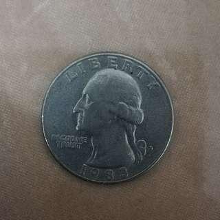 1983 USA 25¢ coin