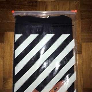 Off-white fire spliced t-shirt