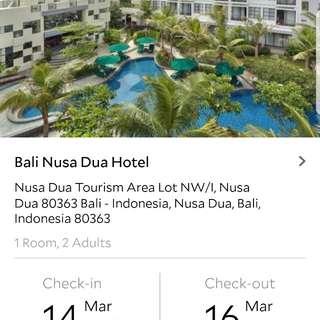 Bali nusa dua hotel 14-16march2018