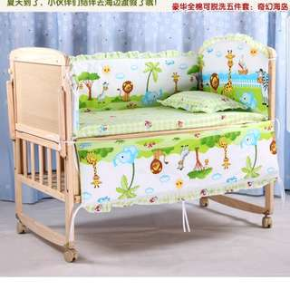 Baby Cot with coconut mattress