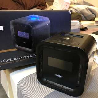TDK Speakers/ Clock Radio for iPhone and iPod