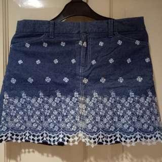 Jeans rok celana pendek