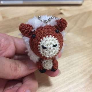 Crochet Pony Keychain