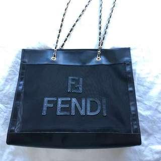 不議100%real FENDI長方形 vintage tote bag 上膊袋