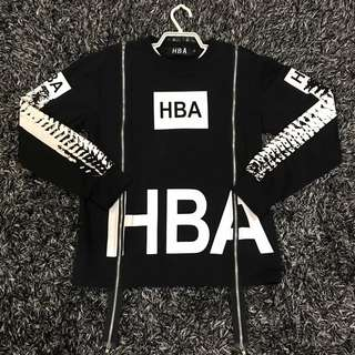 HBA Sweater Dual Zipper Hood By Air