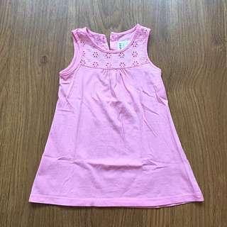 MIKI Baby Pink Sleeveless Dress