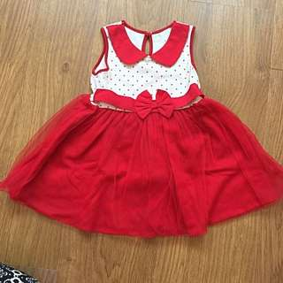 Baby Cheetah Red Dress
