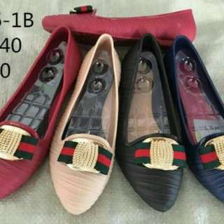 Jelly shoes motif gucci
