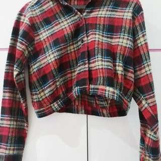 Croptee Flanel Shirt