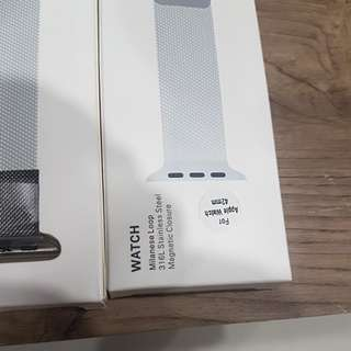 Apple watch stainless steel magnetic closure