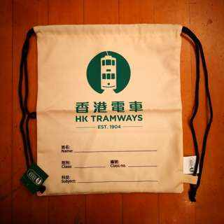 🚎全新香港電車索袋 HK Tramways Drawstring Bag🚎