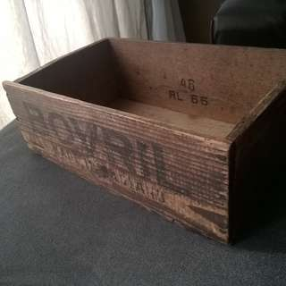 1966 Bovril Wooden Crate