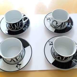 全新一套八件 Cappuccino 咖啡杯 - 有盒