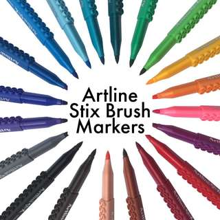 Artline Stix Brush Markers