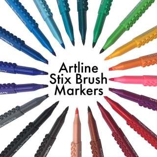 PO ✈️ Artline Stix Brush Markers