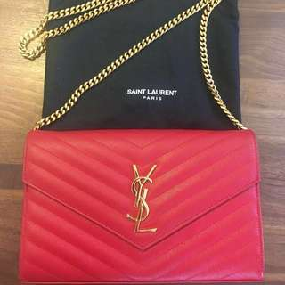 Authentic Saint Laurent YSL bag in RED