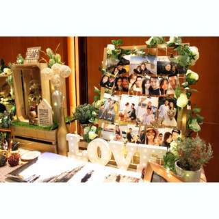 WEDDING PHOTO ALBUM TABLE DECOR (GARDEN THEME)