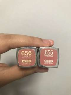 Maybelline Powder Matte in 655 and 656