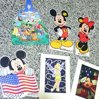 Disney Mickey Minnie Tinkerbell Post Cards