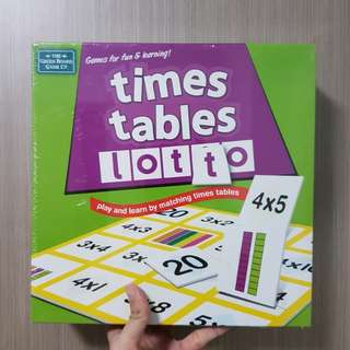 BN Times Tables Lotto Board Game
