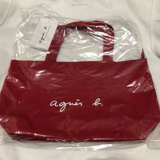 全新agnes b small tote bag (有拉鏈)