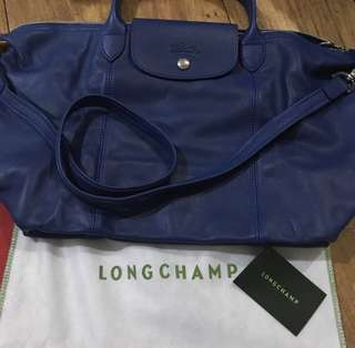 Longchamp Cuir Medium Short Handle