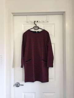 GU Stripe Shirt Dress