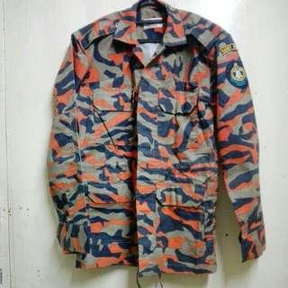Uniform kadet bomba 1 set (seluar dan jacket)