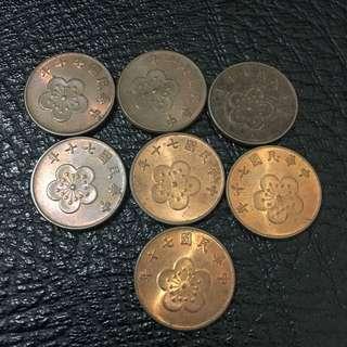 民國70年 伍角 2/1 錢幣